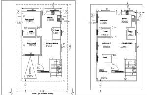 30 x 40 ft site 2 BHK Ground floor- Based on customer requirements