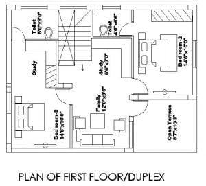 40x60 plot, Built area around 30x40 1st Floor