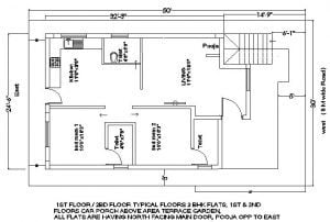 25x35 plot house plan first floor with balcony