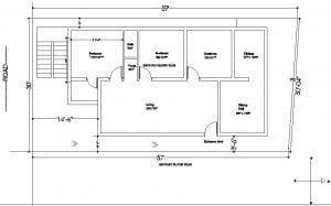 Trapezoidal shape plot house plan