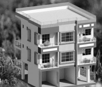 23x30 plot 2BHK flats-Elevation Draft2