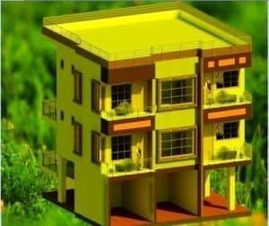 23x30 plot 2BHK flats-Elevation Draft
