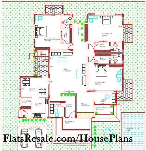 Design Floor plan Luxury form house plan 45x55 plot
