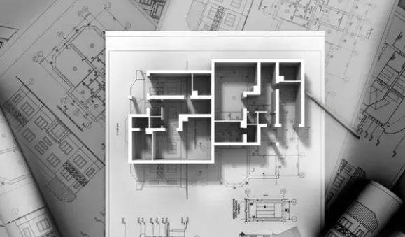 Designing floor plan for house construction