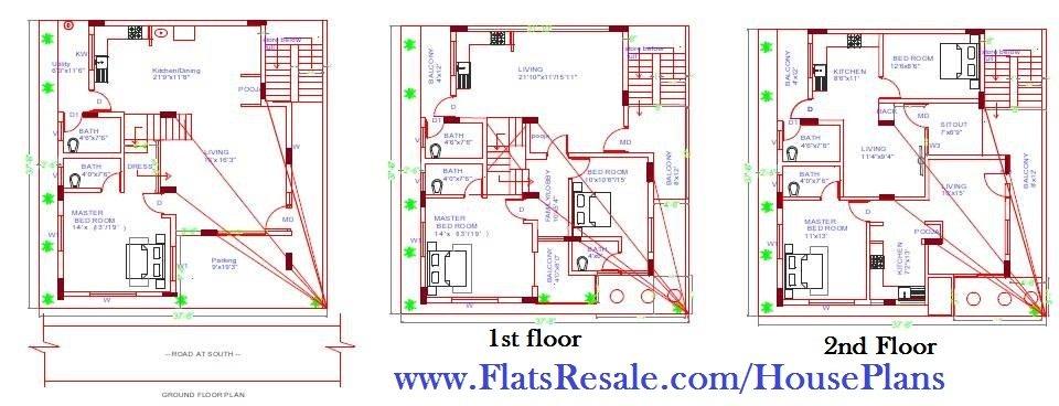 designing floor plans, Provision made for RCC Frame structure for structural design